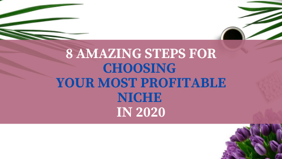 8 Amazing Steps for Choosing Your Most Profitable Niche in 2020