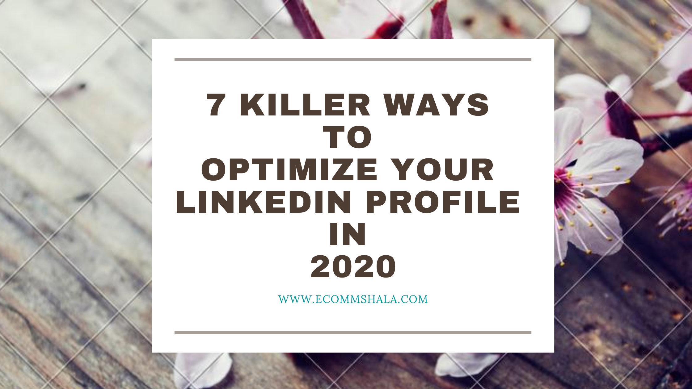 7 Killer Ways to Optimize Your Linkedin Profile in 2020