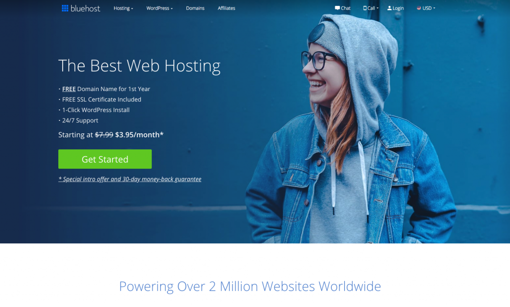 Go to Bluehost.com- get started Buy Web hosting from Bluehost
