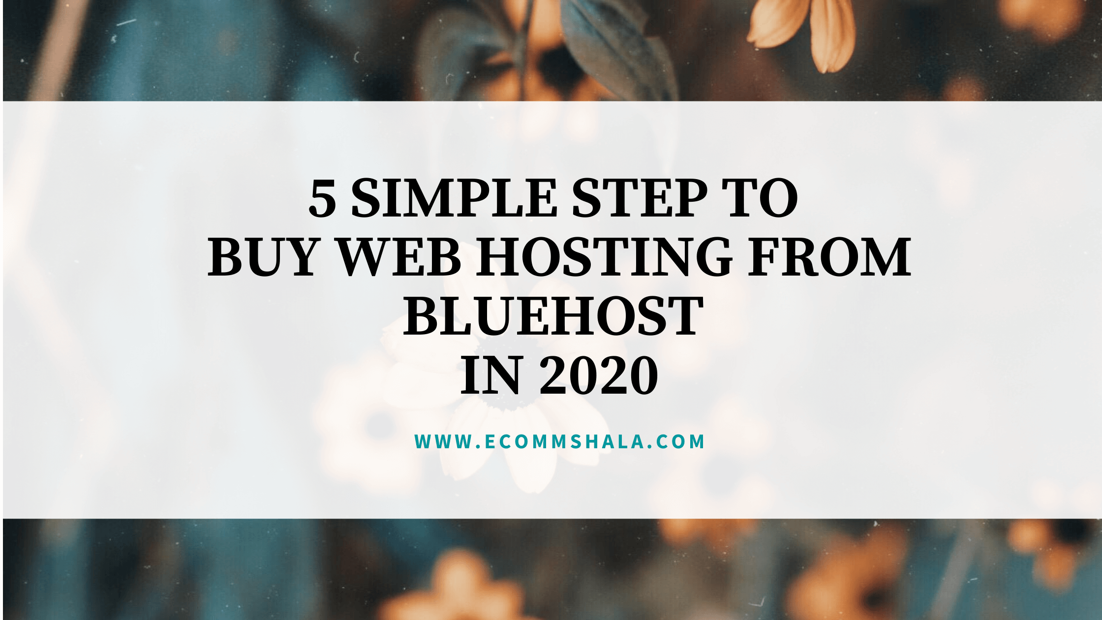 How to Buy Web hosting from Bluehost? 5 Simple Step to Buy web Hosting from Bluehost in 2020