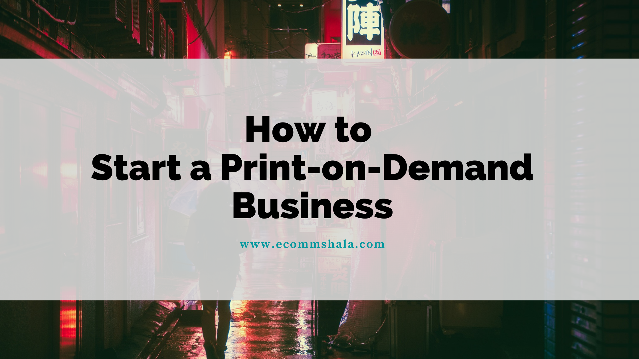 How to Start a Print-on-Demand Business